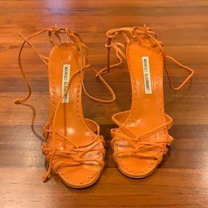 Manolo Blahnik Orange Heels